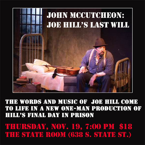 Joe Hill's Last Will play