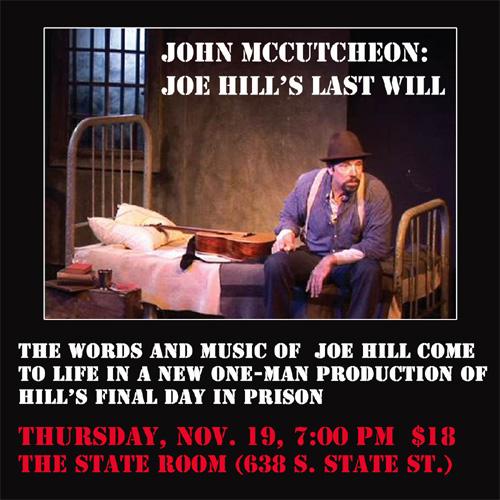 Joe Hill's Last Will play
