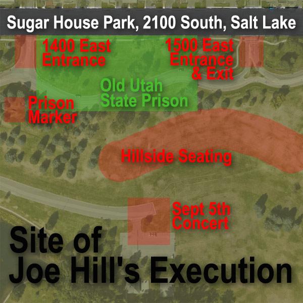 Joe Hill Execution map