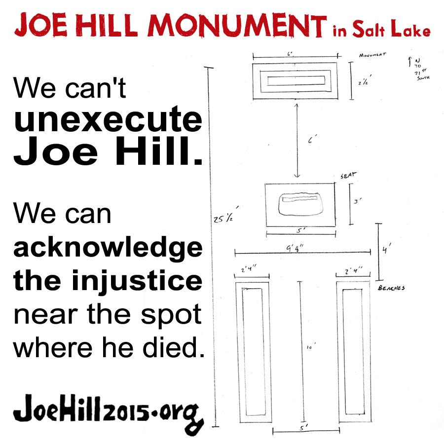 Joe Hill monument in Salt Lake City