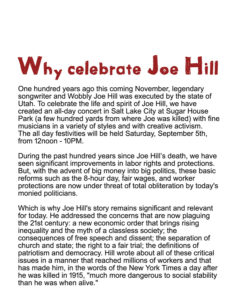 Why Celebrate Joe Hill?